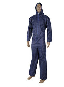 2XL Disposable Hooded Coveralls Medical Disposable Dust Suits Dark Blue